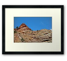 Zion Checkerboard Formations  Framed Print