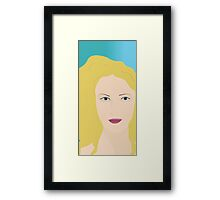 Blonde woman print Framed Print