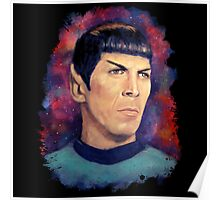 Colorfull Captain Spock Poster