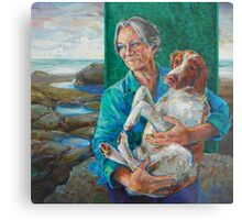 Mother and dog Metal Print