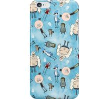 Regular Show on Blue iPhone Case/Skin
