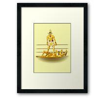 Float like a butterfly sting like a poison dart *gold version* Framed Print