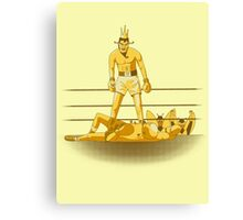 Float like a butterfly sting like a poison dart *gold version* Canvas Print