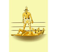 Float like a butterfly sting like a poison dart *gold version* Photographic Print