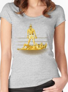 Float like a butterfly sting like a poison dart *gold version* Women's Fitted Scoop T-Shirt