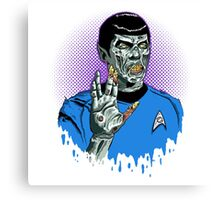 Captain Spock - Zombie Canvas Print