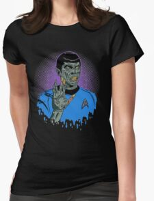 Captain Spock - Zombie Womens Fitted T-Shirt