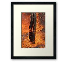 Fingers Of Fire Framed Print