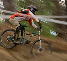 Downhiller on Race Day by trevallyphotos