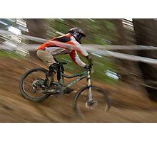 Downhiller on Race Day Photographic Print