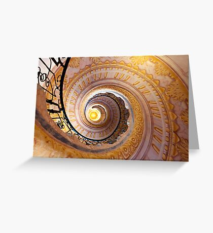 Staircase at Melk Greeting Card