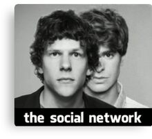 The Social Network Canvas Print