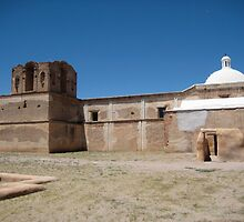 Tumacacori Mission from the East by Michael Cohen
