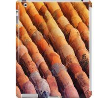 Background of vintage roof tiles iPad Case/Skin