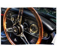 Steering Wheel & Dashboard Poster