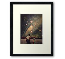 Light Explosions In Our Sky Framed Print