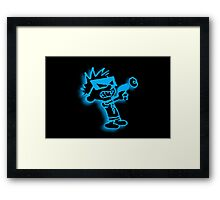 Spaceman Spiff - Black and Blue Framed Print