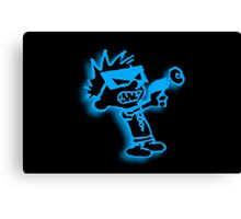 Spaceman Spiff - Black and Blue Canvas Print