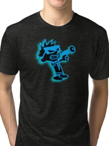 Spaceman Spiff - Black and Blue Tri-blend T-Shirt