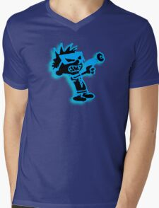 Spaceman Spiff - Black and Blue Mens V-Neck T-Shirt