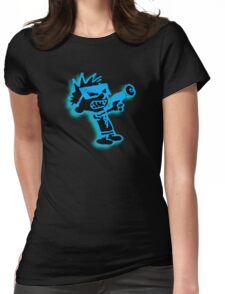 Spaceman Spiff - Black and Blue Womens Fitted T-Shirt