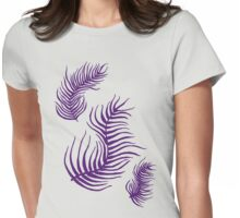 Purple Feathers Womens Fitted T-Shirt