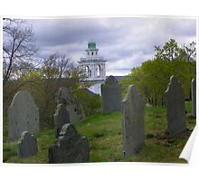 Burial Hill in Plymouth, MA Poster