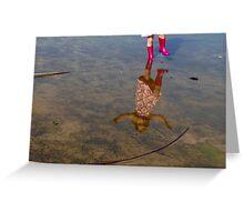One-Legged Reflection Greeting Card