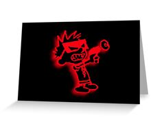 Spaceman Spiff - Red and Black Greeting Card