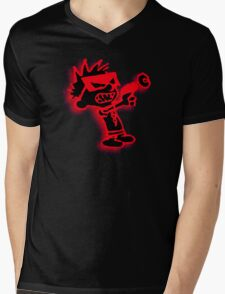 Spaceman Spiff - Red and Black Mens V-Neck T-Shirt