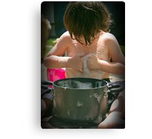 Washboard abs?   Canvas Print