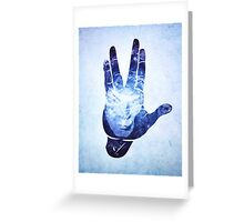 Spocks Hand - Leonard Nimoy Geek Tribute Greeting Card