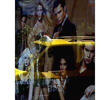 Yellow Taxi With Style Photographic Print