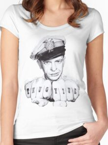 Barney Fife meets Thug Life Women's Fitted Scoop T-Shirt