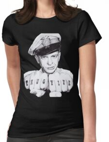 Barney Fife meets Thug Life Womens Fitted T-Shirt
