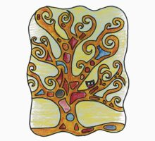 Owl in Kimt's Tree of Life One Piece - Short Sleeve