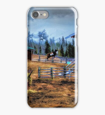 Bucking Pinto and Barns iPhone Case/Skin