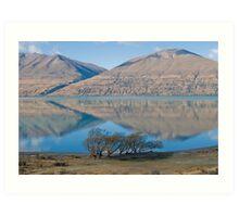 Ben Ohau reflected in Lake Ohau Art Print