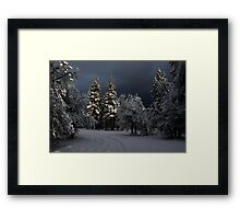 Break In The Storm Framed Print