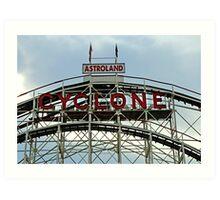 Astroland Cyclone Art Print