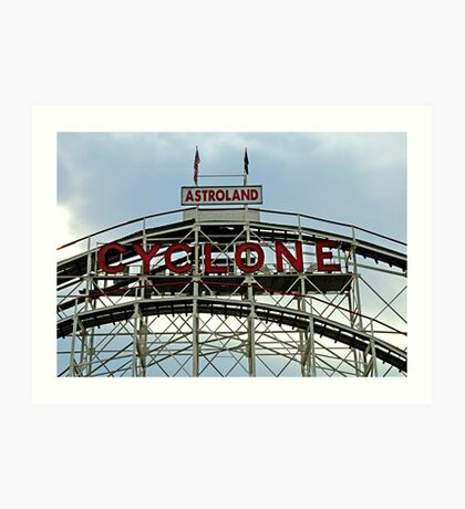 Astroland Cyclone Art Print