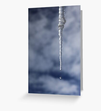 Icicle And Water Drop Greeting Card