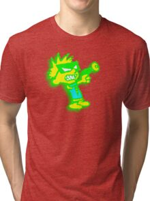 Spaceman Spiff - Green and Yellow Tri-blend T-Shirt