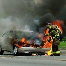 Car Fire by Douglas  Alan