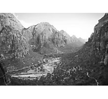 Descending from Angels Landing  Photographic Print