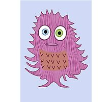 Cute Pink Monster Photographic Print