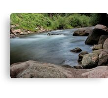 Rocks in Gore Creek, Vail Canvas Print