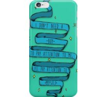 Don't need a boy (ribbon only) iPhone Case/Skin