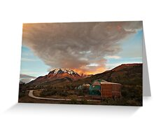 Torres Del Paine Eco-Camp Greeting Card