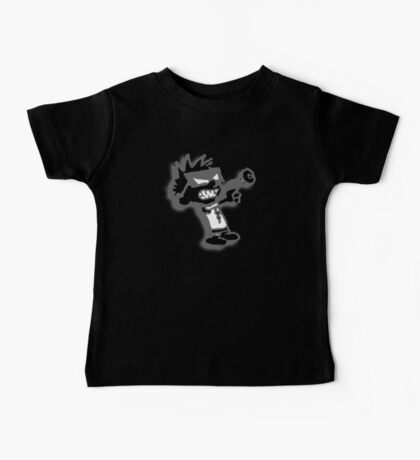 Spaceman Spiff - Black and Grey Baby Tee